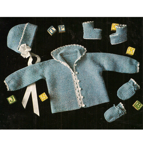 Blue Baby Layette Crochet Pattern