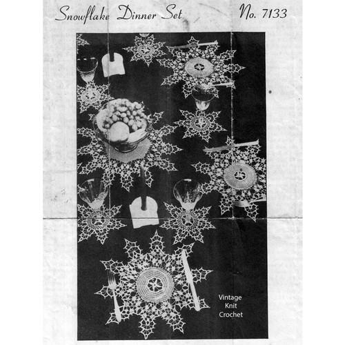 Snowflake Crochet Doilies Pattern No 7144