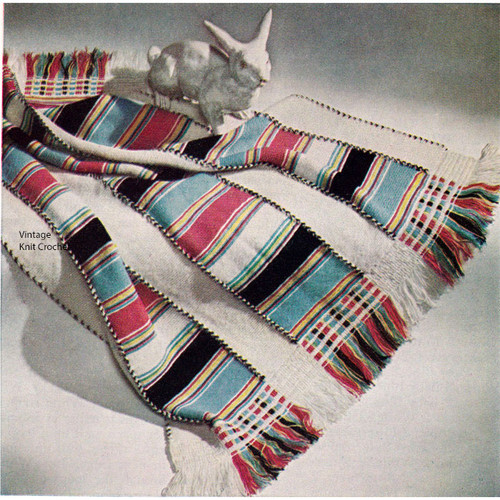 Knitting Pattern Striped Panel Afghan