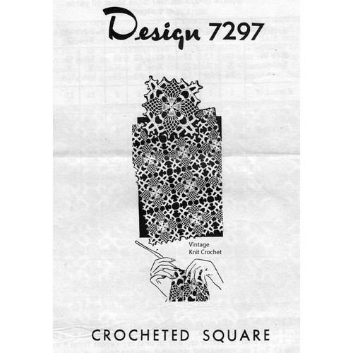 Mail Order Design 7297, Crocheted Square Pattern