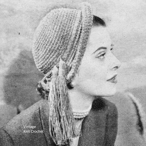 Tasseled Cloche Hat Pattern in Chenille