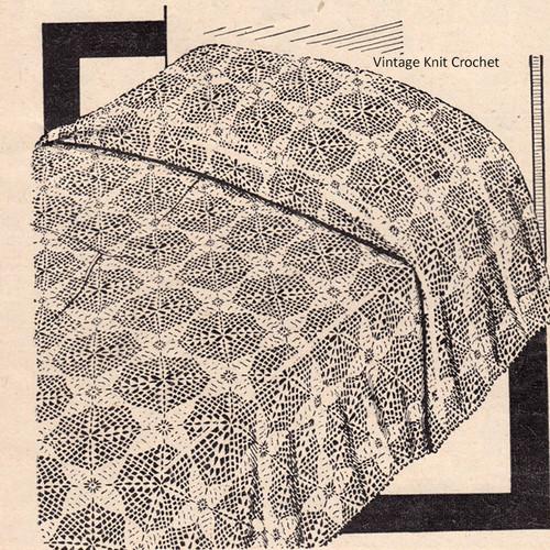 Workbasket Crochet Bedspread Pattern