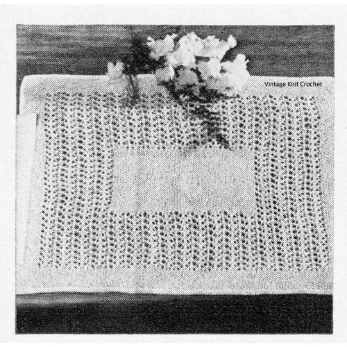 Vintage Place Mats Knitting Pattern
