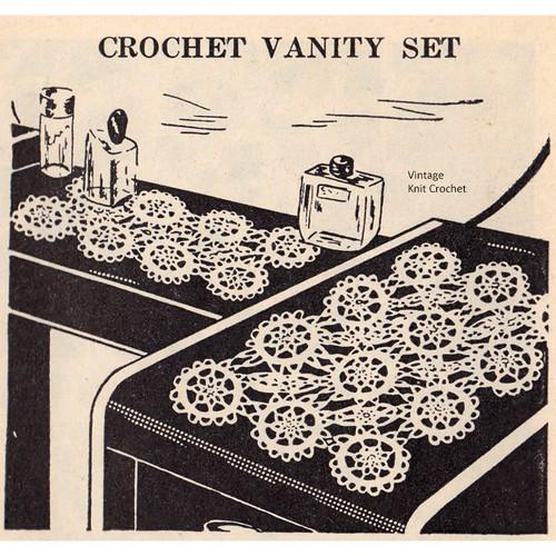 Crochet Lace Runner Crochet Pattern, Vintage 1948
