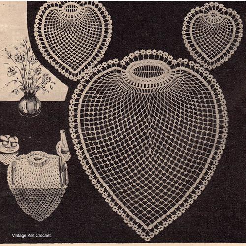 Crochet Pineapple Mats Pattern, Vintage Workbasket Magazine