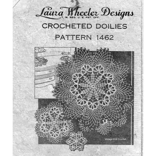 Laura Wheeler 1462, Crochet Doily Pattern