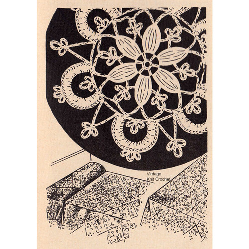 Crochet Daisy Medallion Pattern, Bedspreads Tablecloths