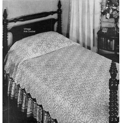 Vintage Medallion Crocheted Bedspread Pattern
