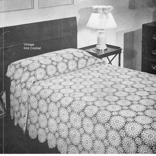 Crocheted Berkshire Medallion Bedspread Pattern