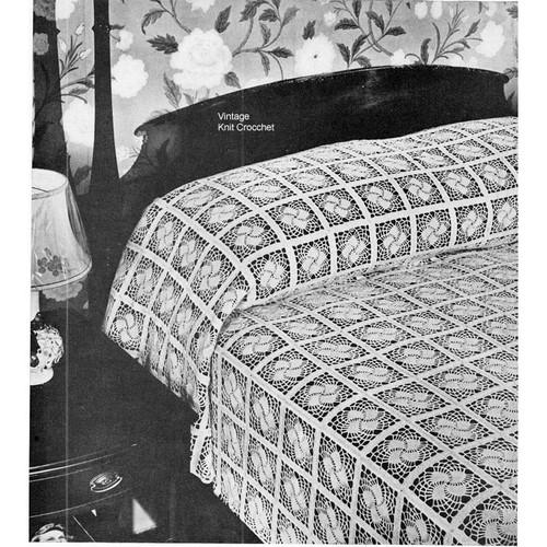 Crochet Lace Pinwheel Square Pattern No 6113