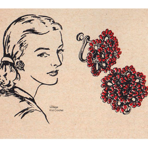 Beaded Tatted Earrings Pattern, Free Download