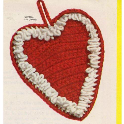 Free Crochet Heart Potholder Pattern
