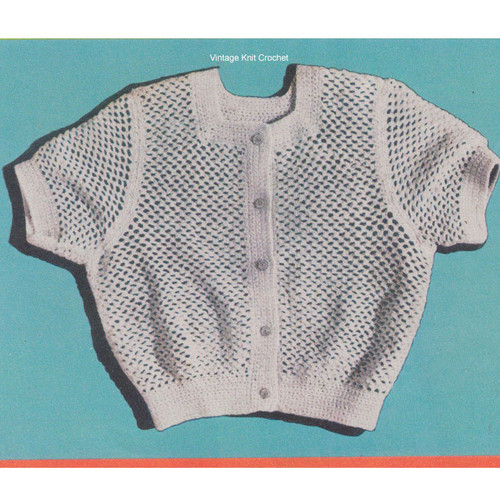 Crochet Short Blouse Pattern, The Eisenhower