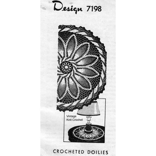 Alice Brooks 7198, Crochet Pinwheel Doily Pattern