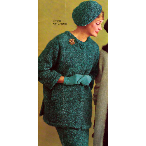 Two Piece Knitted Mohair Suit Pattern