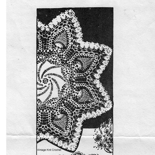 Martha Madison 1227, Pinwheel Crochet Doily Pattern