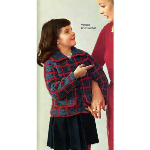 Girls Mohair Knitted Zipper Jacket Pattern