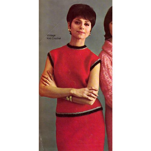 Mohair Two Piece Dress Knitting Pattern