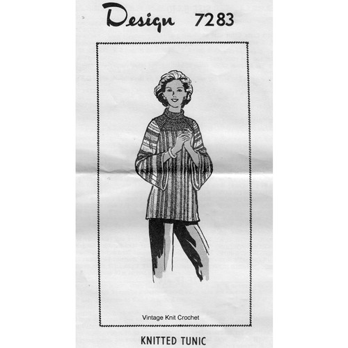 Alice Brooks 7283, Striped Tunic Knitting Pattern