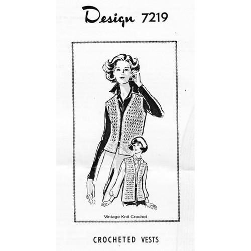 Alice Brooks 7219, Crochet Shell stitch vest pattern