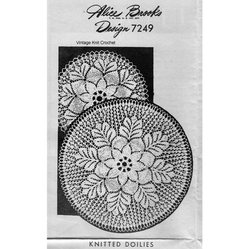 Knitted Rose Doily Pattern, Mail Order 7249