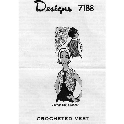Daisy Winder Crochet Vest Pattern Mail Order 7188