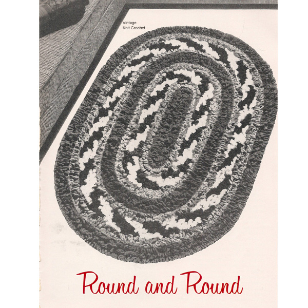 Oval Area Rug Crochet Pattern In Four Colors