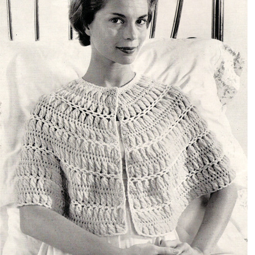 Easy Hairpin Lace Bed Jacket Pattern Medium