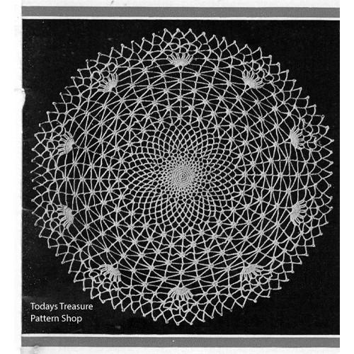 Crocheted Spider Web Doily Pattern
