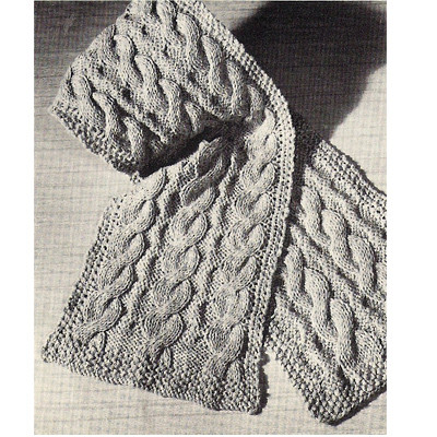 Easy Beginners Cable Scarf Free Knitting Pattern, 12 x 54