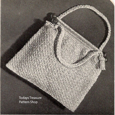 Small Crocheted Tote Knitting Bag Free Pdf Pattern