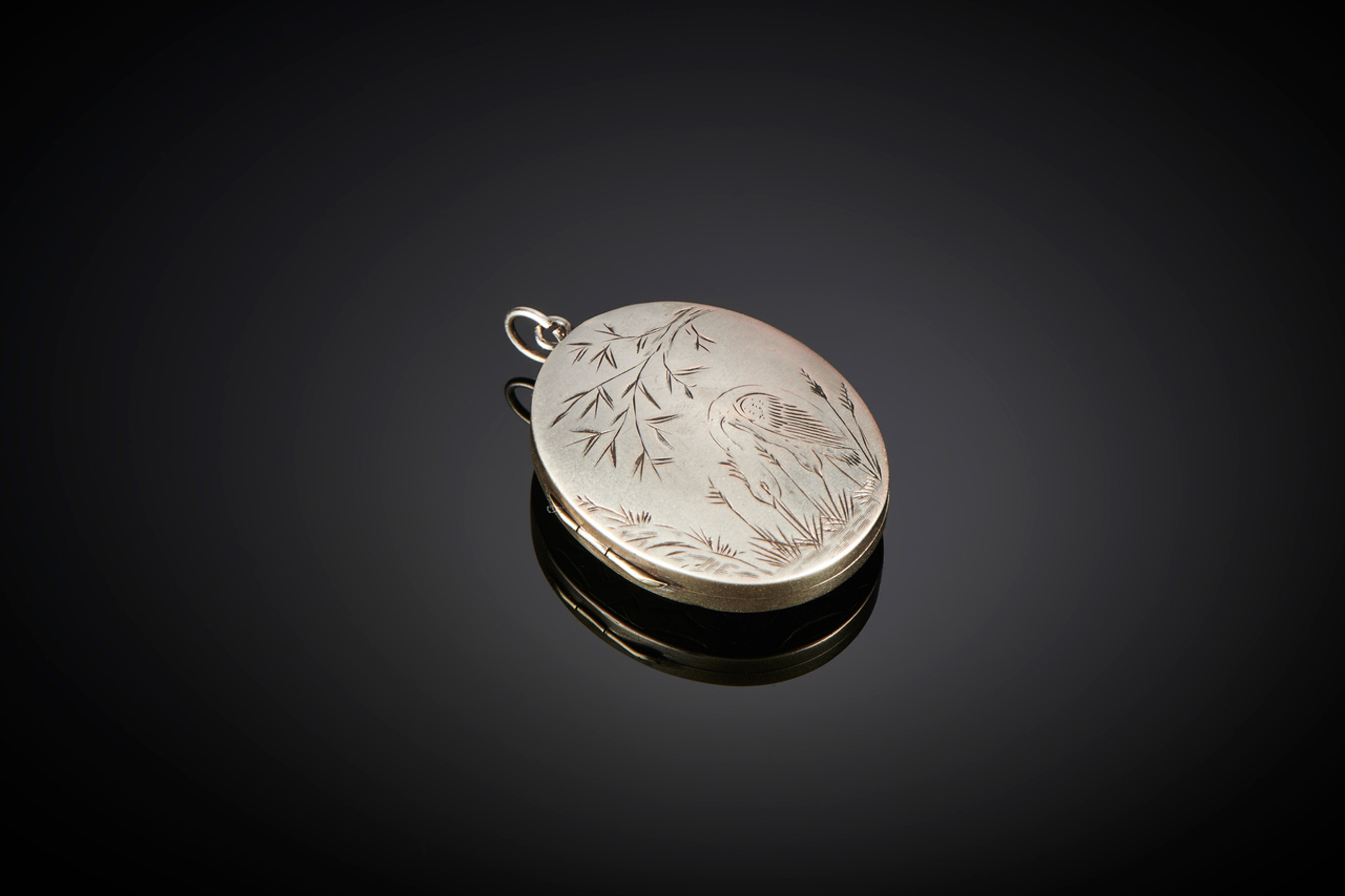 Fine Aesthetic Movement Silver Locket - Front Image