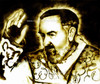 St. Padre Pio drawn by pencil by Patrick Campbell