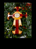 St. Benedict Cross, Maple and Bloodwood, 8 inch
