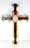 St. Benedict Cross, maple and walnut, 14 inch (without corpus)
