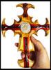 Trinity St. Benedict  Deliverance Crucifix, Exorcised Salt inside, Hand-held
