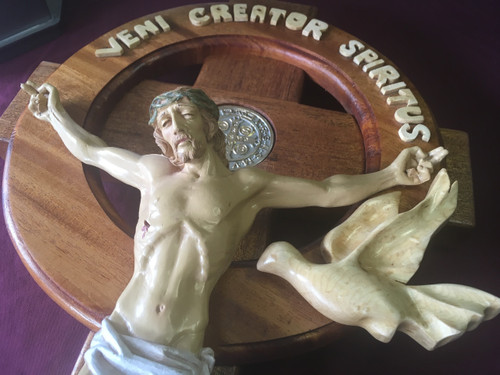 St. Benedict Jubilant Celtic Crucifix, with stand