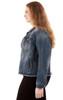 Plus Size Basic Denim Jacket In Steel