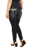 Plus Size Signature Skinny with Embellished Pocket In Amaryllis