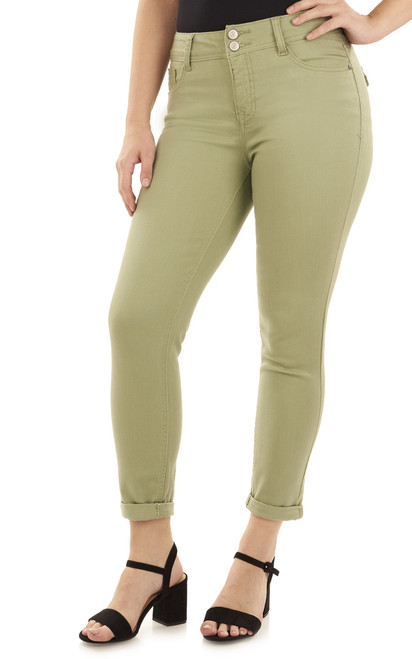 Basic Curvy Convertible In Oil Green