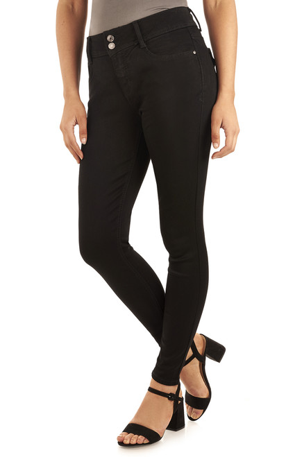 Basic Curvy Skinny Jeans In Onyx