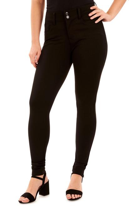 Push Up Curvy Skinny Jeans In Black