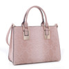 Clair Snakeskin Pattern Embossed Faux Leather Shoulder Hand Bag