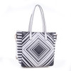 Alyssa Faux Leather Tote Shoulder Hand Bag with Diamond Pattern Print