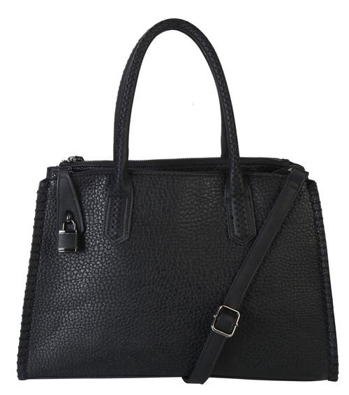 Jaime Black Designer-Inspired Adjustable Shoulder Bag Satchel Handbag Purse