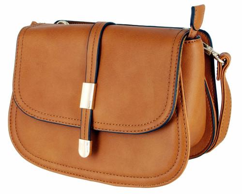 Alyssa Collection Women's Fashion Saddle Bag Cross Body Purse Handbag