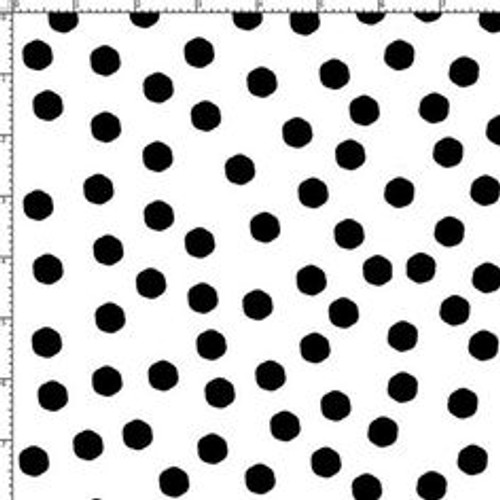 jumbo dots white/blk fabric