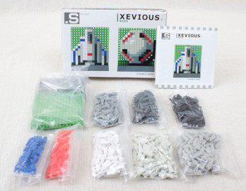 RARE! XEVIOUS Dots .S Puzzle Pin Panel Toy Tomytec JAPAN FAMICOM NES NAMCO