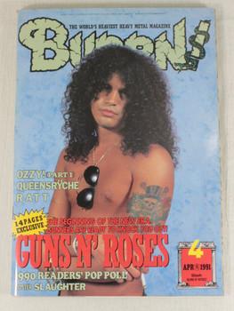 1991/04 BURRN! Japan Rock Magazine GUNS N' ROSES/BLACK CROWS/QUEENSRYCHE/RATT