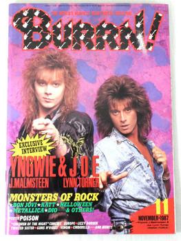 1987/11 BURRN! Japan Rock Magazine YNGWIE/LYNN TURNER/BON JOVI/GUNS N' ROSES